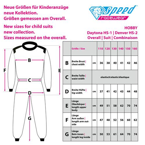 Speed Hobby Suit | Denver HS-2 | black,white | size 110
